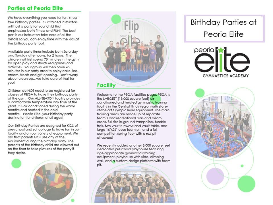 PEGA Birthday Party Release Form Printable PDF